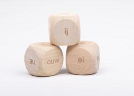 Dobbelsteen Spelling ou, au, ouw, auw, ei, ij