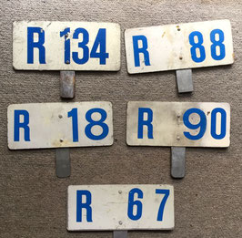 Run number plates from Randwick depot 1980s onward