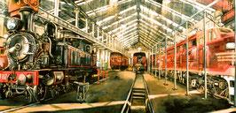 POST CARD    Eveleigh Railway Workshops interior