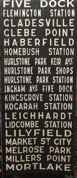 Genuine Sydney Bus destination roll from the 1960s  item 22