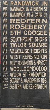 Genuine Sydney Bus destination roll from the 1960s  item 29