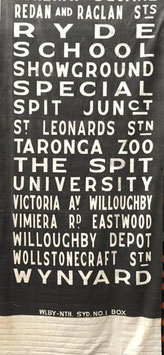 Genuine Sydney Bus destination roll from the 1960s  item 21