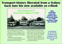 The Development of Government Transport in NSW  selling as an e-Book