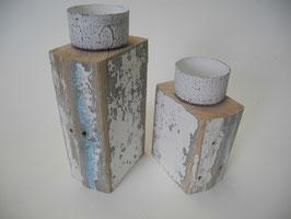 --SEYCHELLEN-- Teelichtahlterkombinaton aus Treibholz