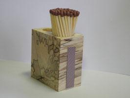 Streichholzkubus aus gestocktem Buchen Holz
