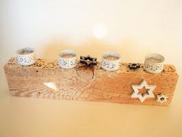 --WHITE CHRISTMAS-- Adventsgesteck aus Treibholz