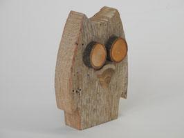 Witzige Eule aus Treibholz