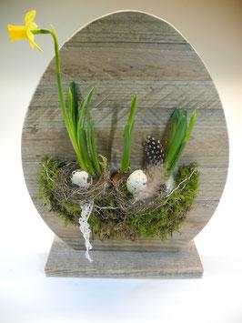 --NARCISSUS-- Grosse Eier aus Palettenholz