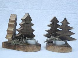 Weihnachtliche Teelichthalter aus Palettenholz
