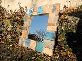 --BLUE LAGUNE--Spiegel aus Treibholz