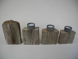--MOHER-- Teelichthalter Arrangement aus Treibholz