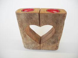 --SANDAL-HEART-- 2er Teelichtkombination