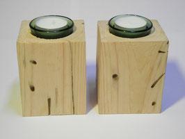 --SPRING-- Zwei Teelichthalter aus Treibholz