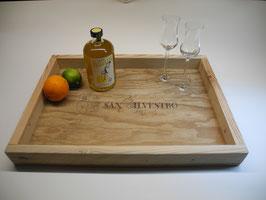 --VINO--Tablett aus Palettenholz und Weinkiste