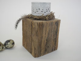 --NIDO-- Teelichthalter aus Treibholz