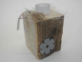 --CUBO-- Teelichthalter aus Treibholz