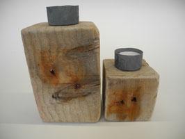 --ATLANTIK DUO-- zwei Teelichthalter aus Treibholz