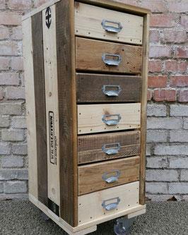 --RAILAWAY-- Schubladenelement/ Büro Rollcontainer  aus Palettenholz