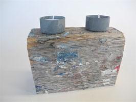 --MONET II--  Teelichthalter aus Treibholz