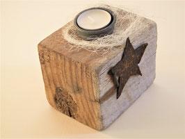 --RUSTY STAR--Teelichthalter aus Treibholz