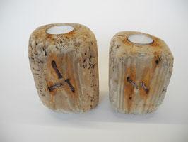 --OXID--Teelichthalter aus Treibholz