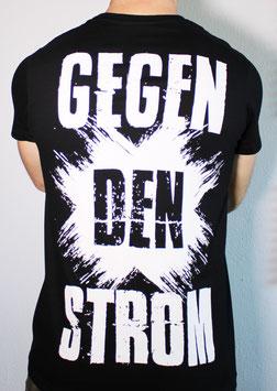 T-Shirt ''Gegen den Strom'' schwarz