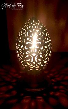 Messing -  Tischlampe mit Kerze Ihaja