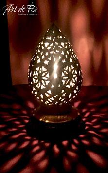 Messing - Tischlampe mit Kerze Aladin