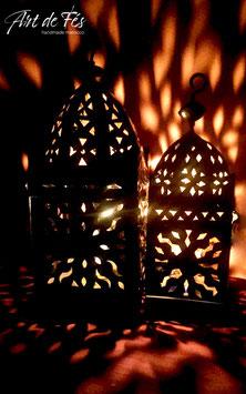 EISEN- Laterne mit Kerzen Shayan