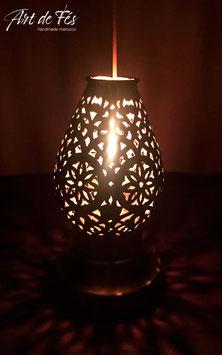Messing - Tischlampe mit Kerze Fatima