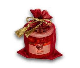 Geschenksäckli rot mit Konfi oder Eingemachtem