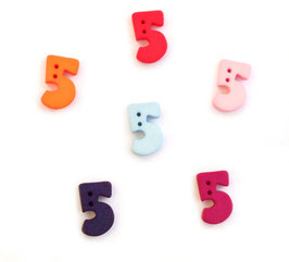 Zahlenknopf 5