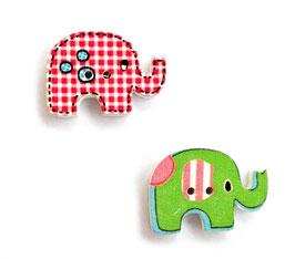 Holzknöpfe Elefant