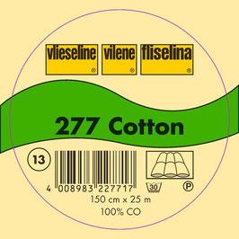 Vlieseline- 277 Cotton Weiß 0,5m