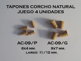 Mini Tapones Corcho Natural