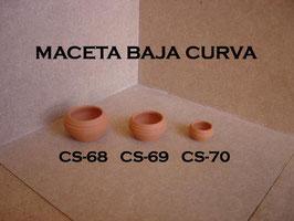 Maceta Baja Curva