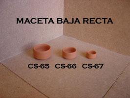 Maceta Baja Recta