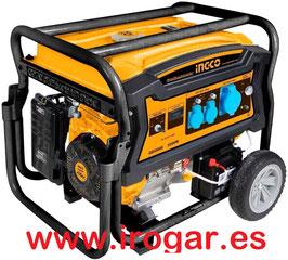 GENERADOR GASOLINA INGCO 4T 6500W GE65006 15HP