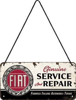 Fiat Service & Repair Hängeschild