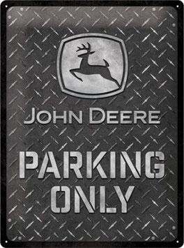 John Deere Parking Only Black