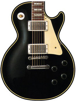 Mouse Pad Gitarre schwarz