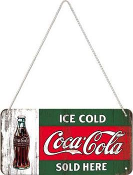 Coca Cola Hängeschild rot grün