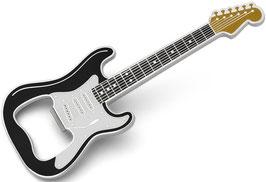 Gitarren Flaschenöffner schwarz/gold magnetisch
