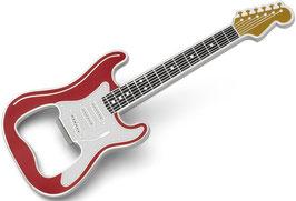 Gitarren Flaschenöffner rot/gold magnetisch