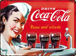 Coca Cola Pause and refresh Pin Up