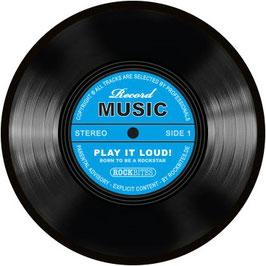 Mouse Pad Music Schallplatte blau