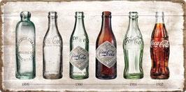 Coca Cola Flaschenlegende 25x50cm