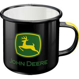 John Deere Emaille Becher Logo