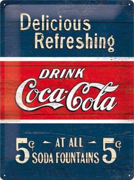 Coca Cola blau rot