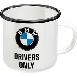 BMW Drivers Only Emaille-Becher
